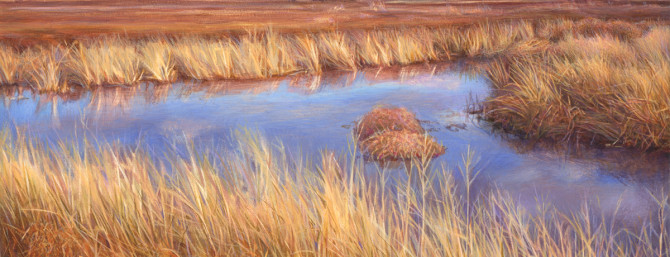 Whitewater Draw, AZ. Egg tempera on panel, 2014.